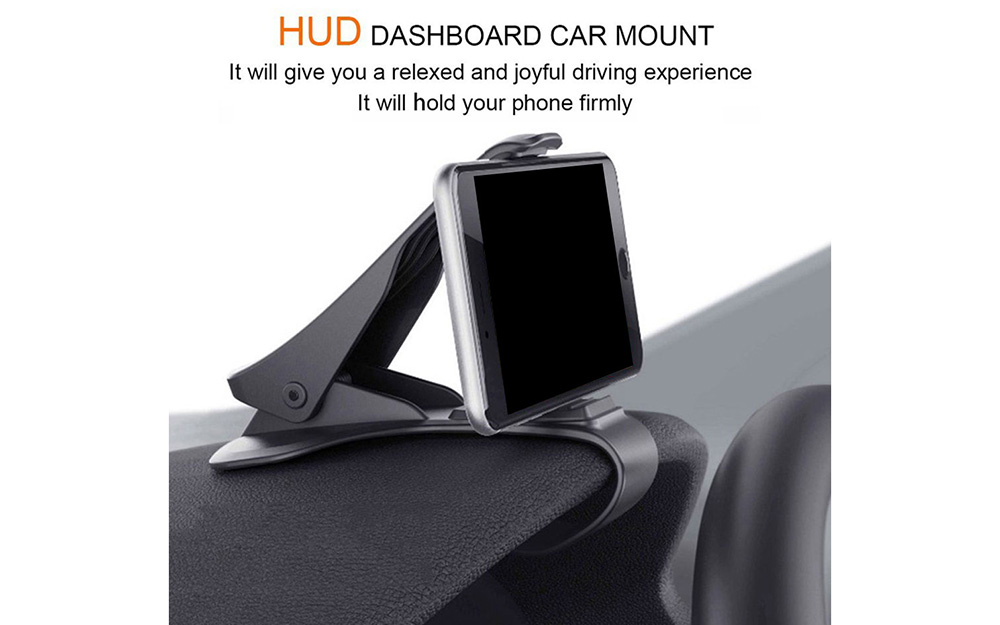 HUD Direct View Car Phone Holder GPS Stand- Black