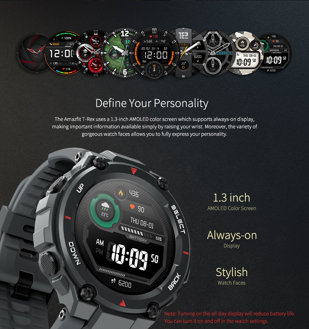 Amazfit T-Rex Smart Watch Global Version - ACU Camouflage