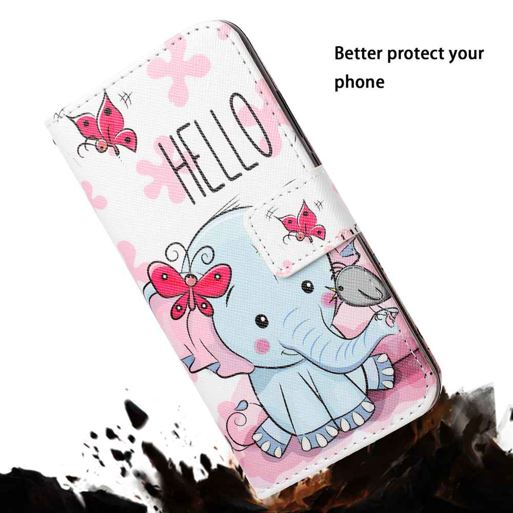 Gold Color Painting PU Phone Case for Samsung Galaxy S10 E- Multi-A