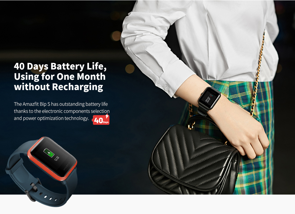 Amazfit BIP S Smartwatch Long Battery Life