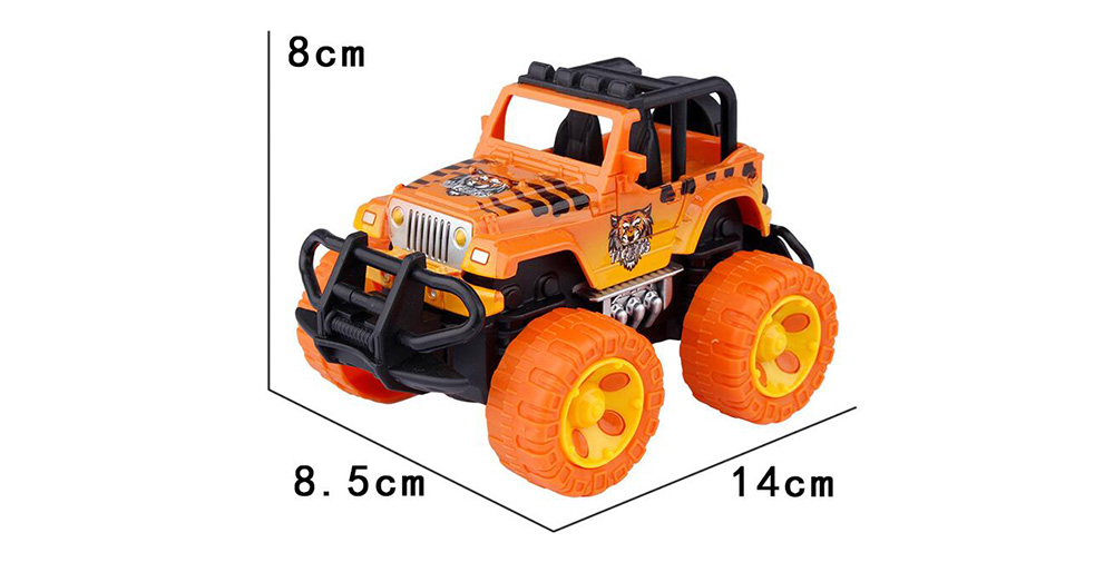 1:43 Simulation Off-road Vehicles Model Toys for Kids Child Playing- Orange