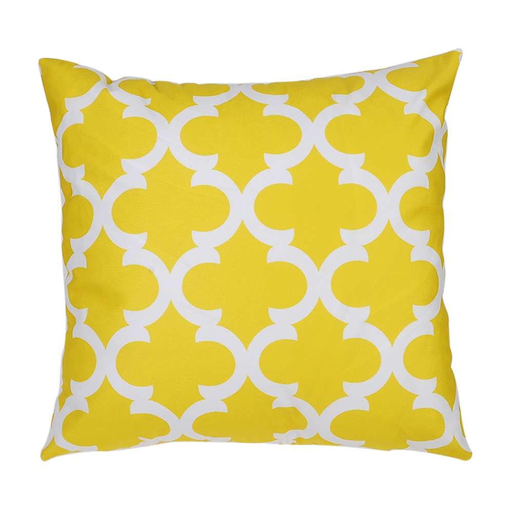 PC179   Printed Polyester Washed Pillowcase   45X45- Bright Yellow