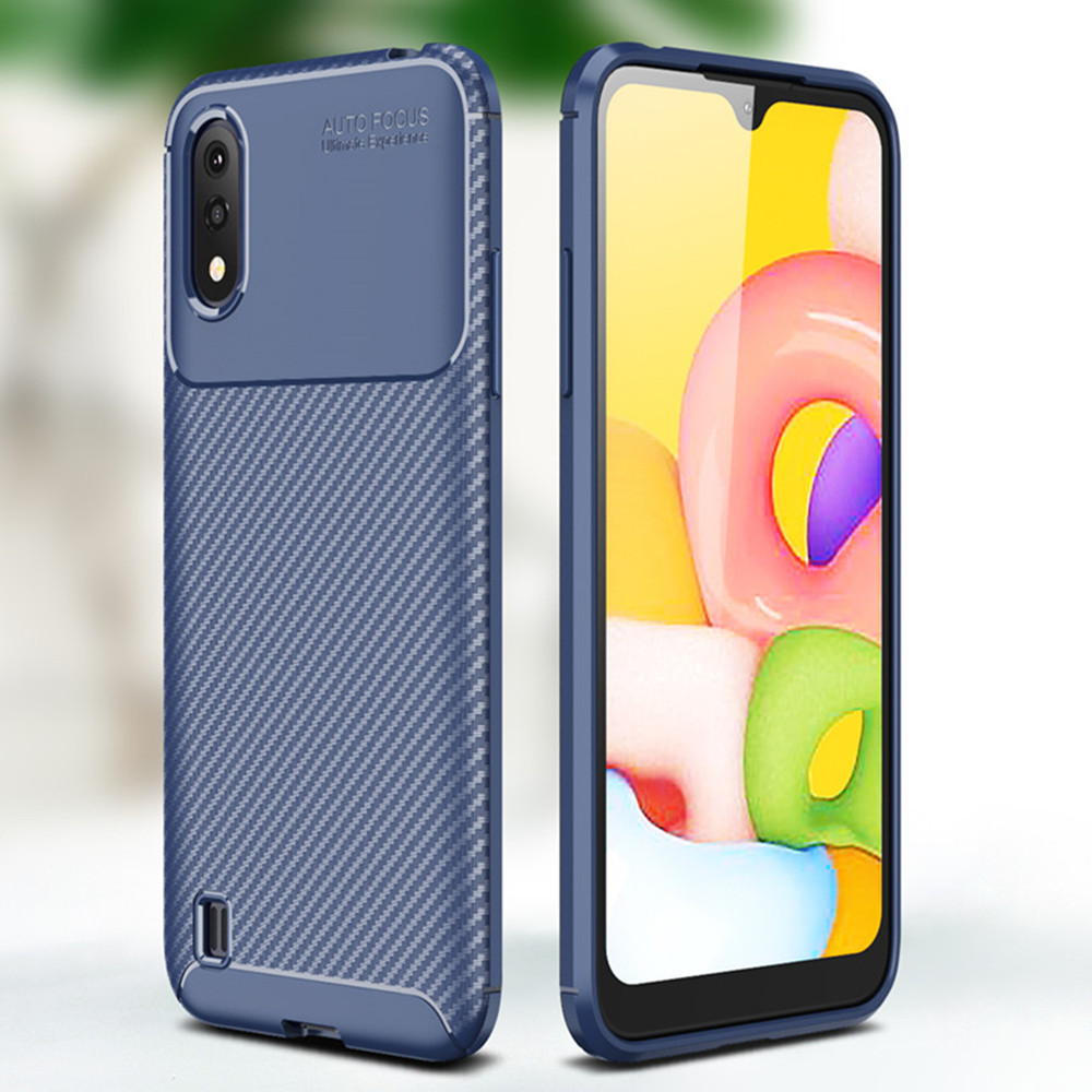 Luxury Fashionable TPU Phone Case for Samsung Galaxy A01- Midnight Blue