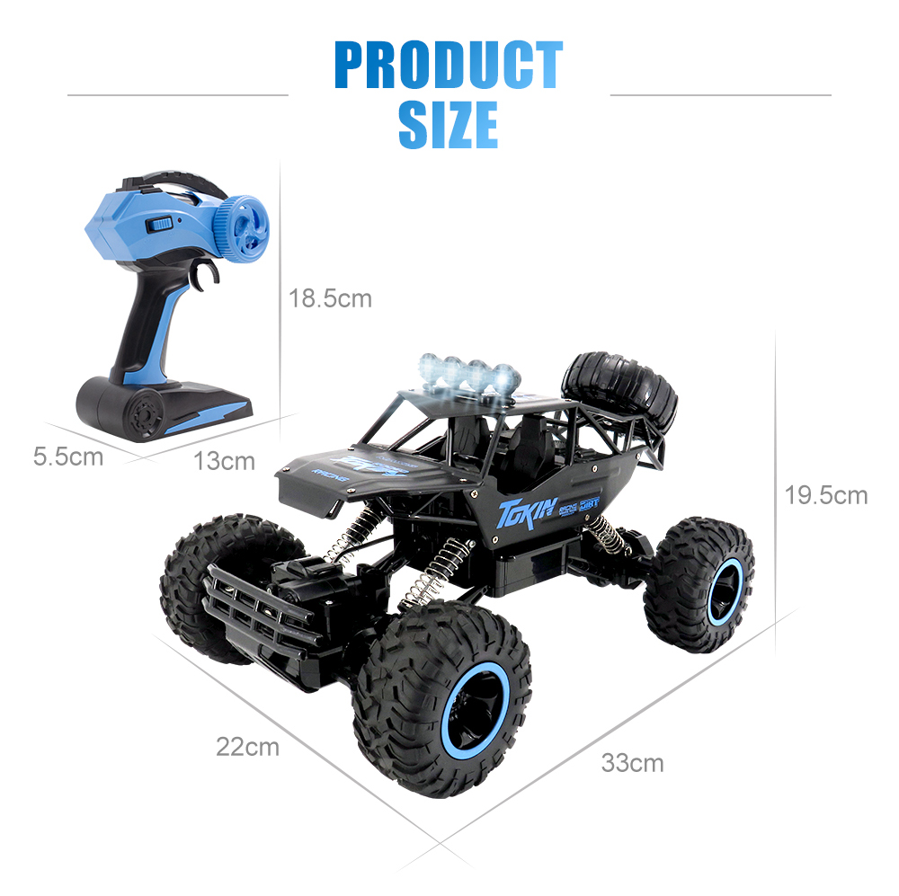 Flytec 1:12 Four-wheel Drive Vehicle Climbing 2.4G Full-scale Alloy Off-road Vehicles- Black