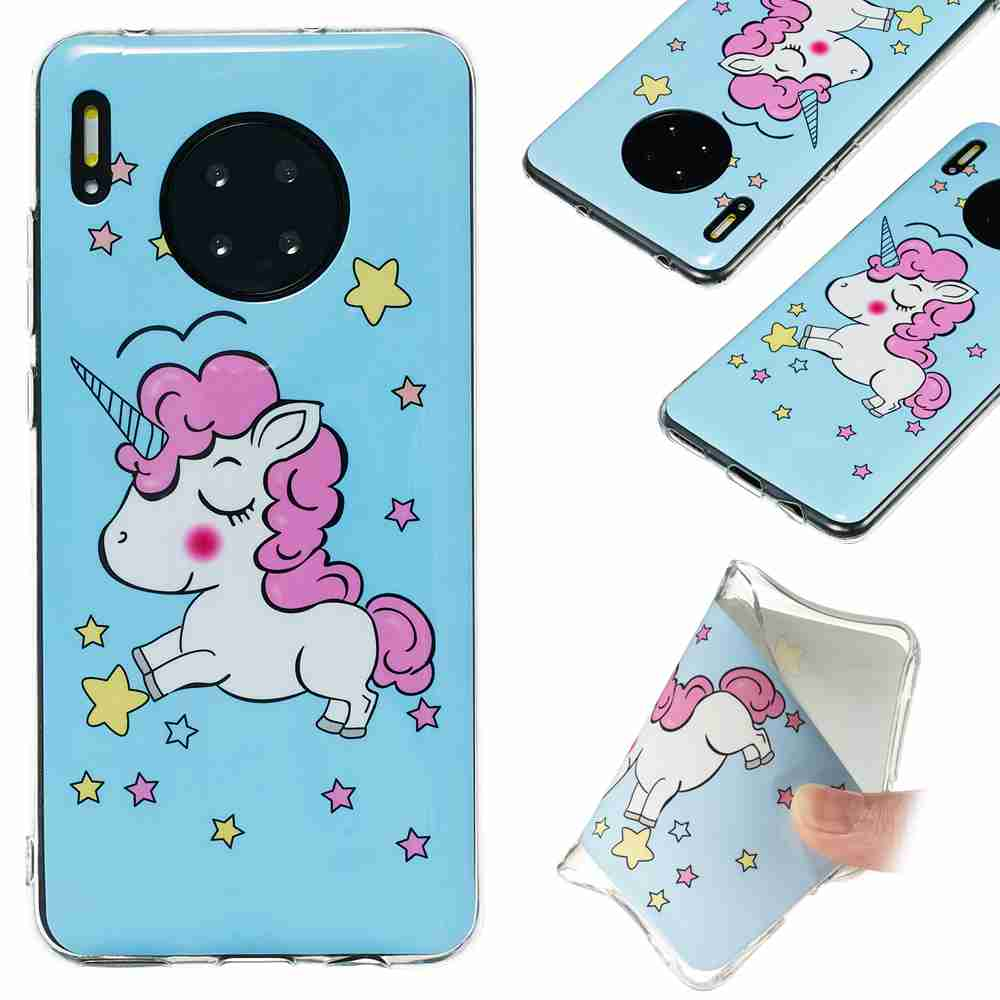 Luminous Painted TPU Phone Case for Huawei Mate30 Pro- Multi-A