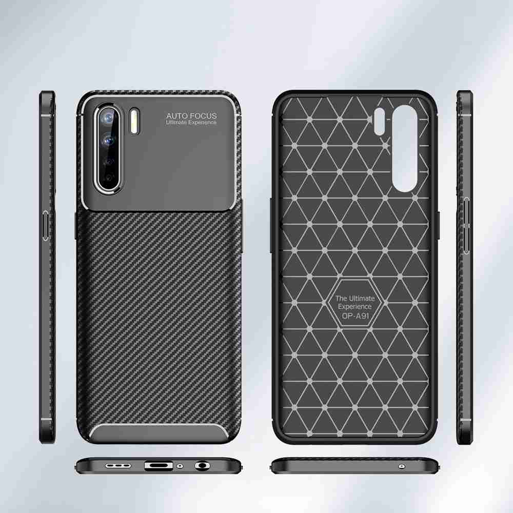 Carbon Fiber Phone Case for Oppo A91- Brown