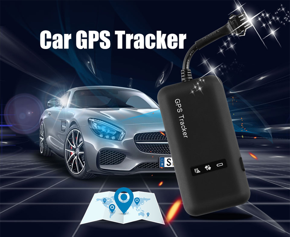 Mini GPS Tracker Small Motorcycle Electric Anti Lost Locator Anti-theft Real Time Tracking Device for Car - Black