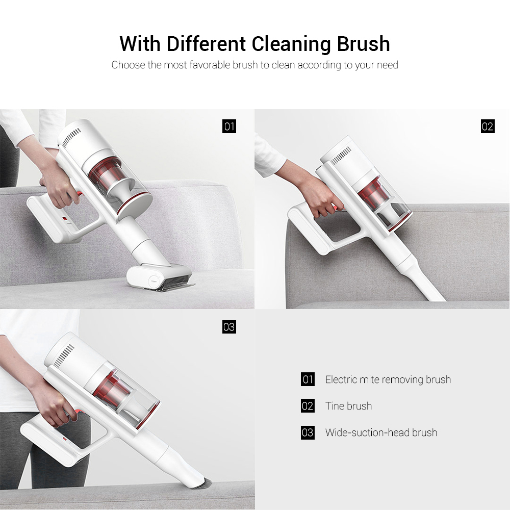 Shunzao Z11 Wireless Handheld Stick Vacuum Cleaner With 26kPa Strong Suction 60mins Duration 0.5L Dustbin Form Xiaomi Youpin- White
