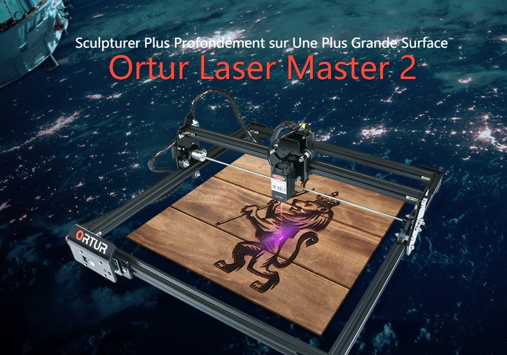 ORTUR Laser Master 2 Laser Engraving Cutting Machine With 32-bit Motherboard - Black 20W (EU Plug)