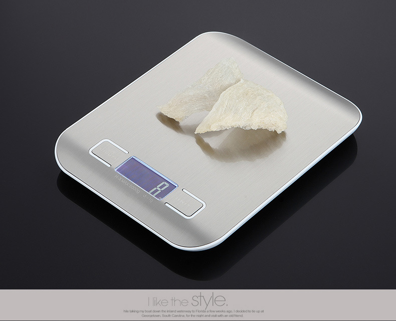 Mini Kitchen Electronic Scale Portable Precision Household Weighing Tool - Silver 10kg/1g