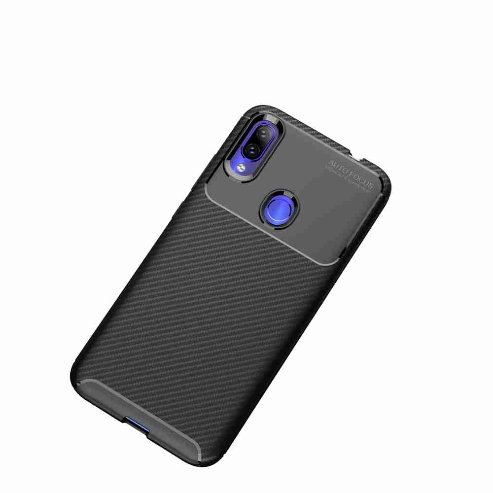Beetle Carbon Fiber Phone Case for Xiaomi Redmi Note 7 / Note 7 Pro / Note 7S- Black