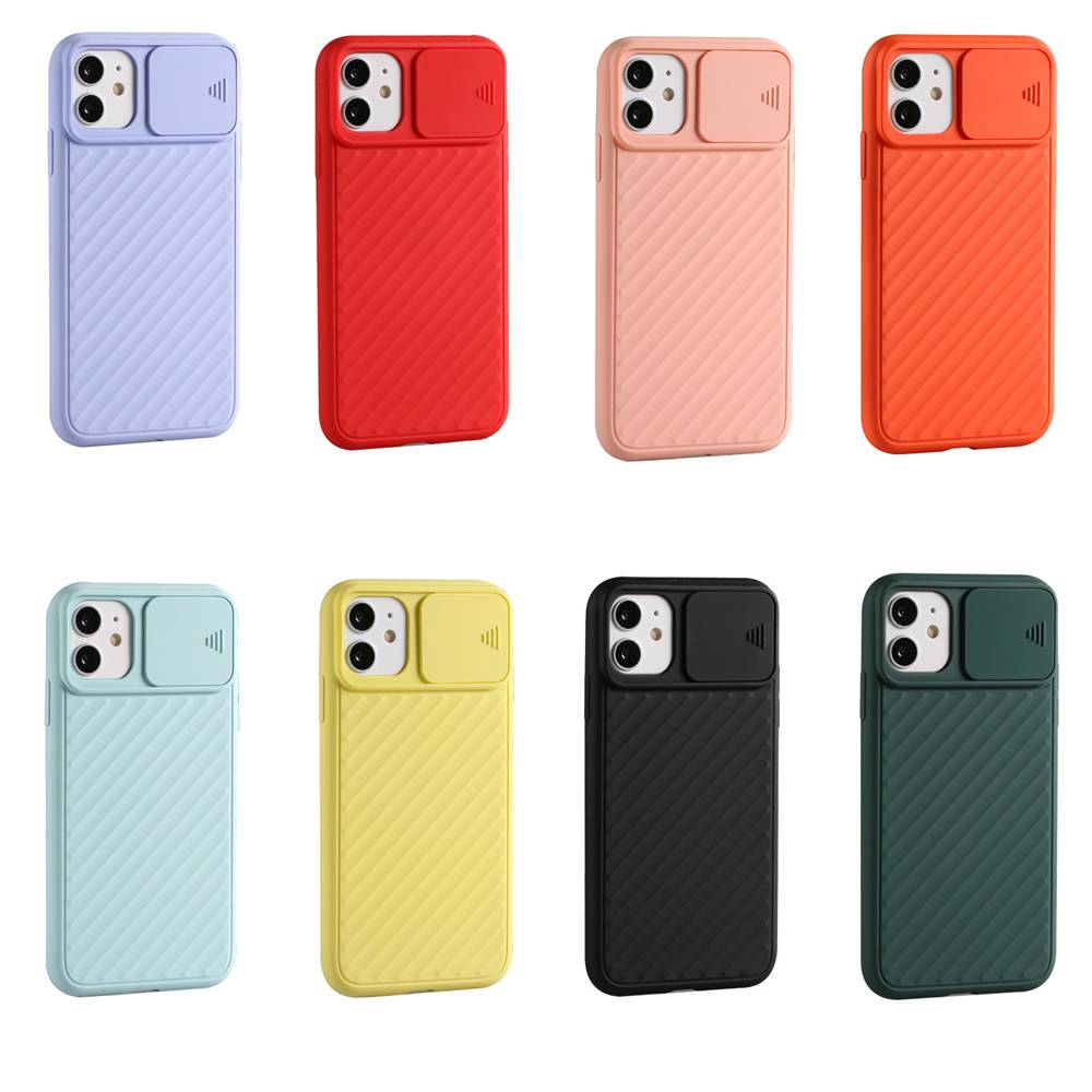 Spingere Finestra TPU Phone anticaduta per Iphone 11- Arancio