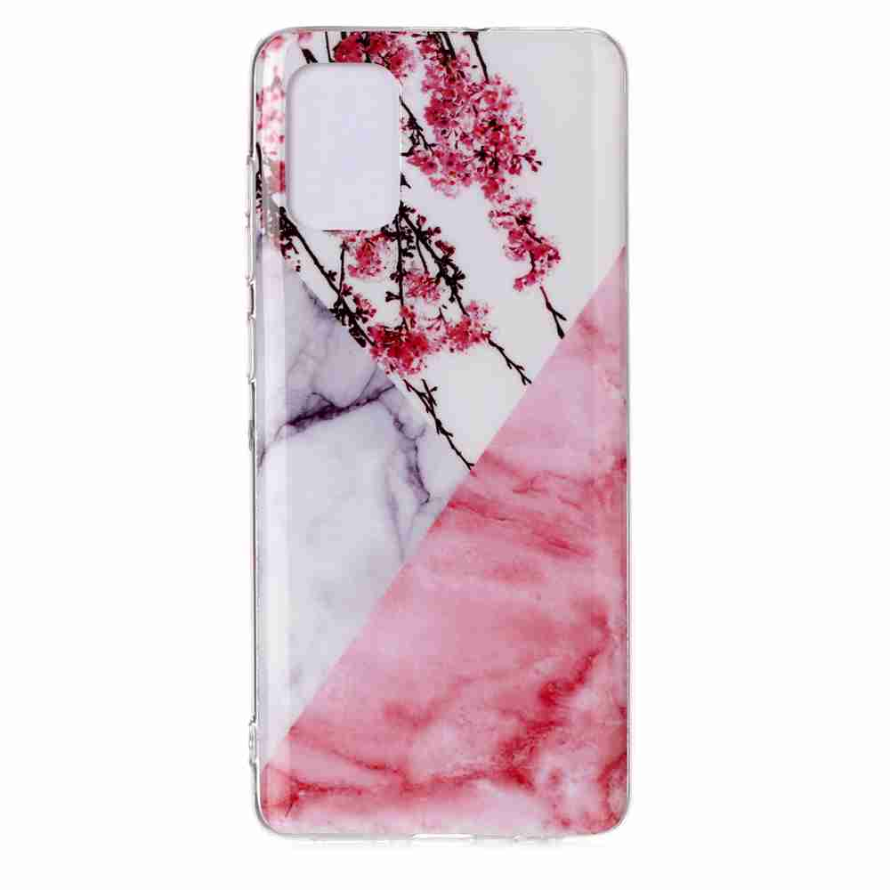 TPU Marble Painted Phone Case for Samsung Galaxy A51 / M40S- Multi-R