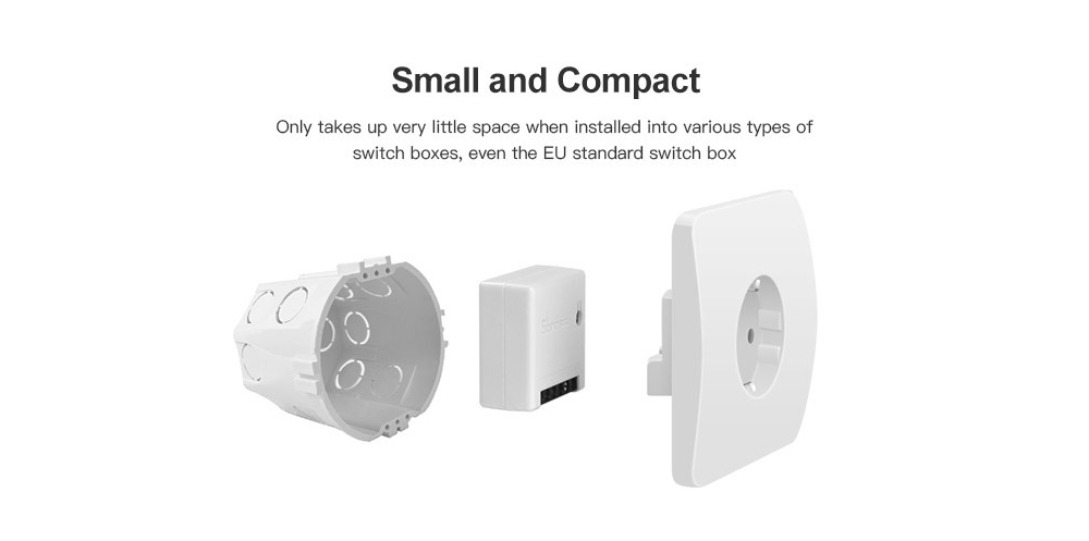 Sonoff MINI DIY Smart Switch Small Body WIFI Dual Control Switch Work with Alexa Google Home (CN Version)- White