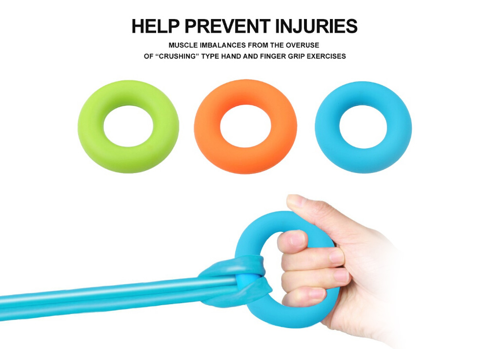 Pinleg Finger Gripper Silica Gel Portable Hand Grip Gripping Ring Carpal Expander Finger Strength Rehabilitation Pow Stress Orange
