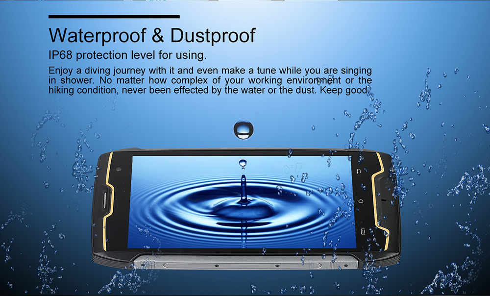 Smartphone 3G CUBOT KingKong CS Android 10 (Go Edition) 2Go RAM 16Go ROM Visage ID IP68 Imperméable Version Globale- Noir