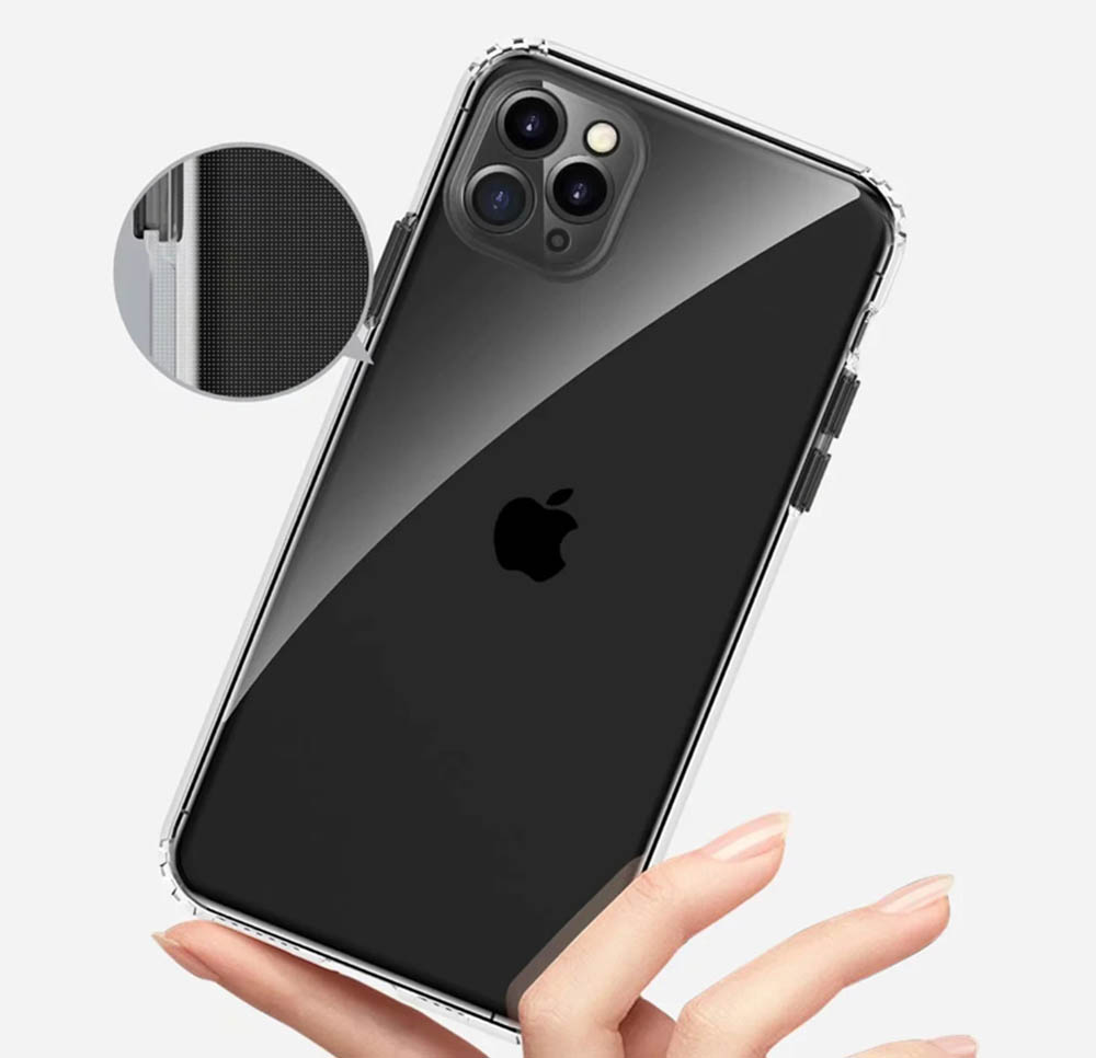 Transparent Shock Proof Phone Case Cover for iPhone 11 Pro Max / 11 / 11 Pro- Yellow iPhone 11 Pro