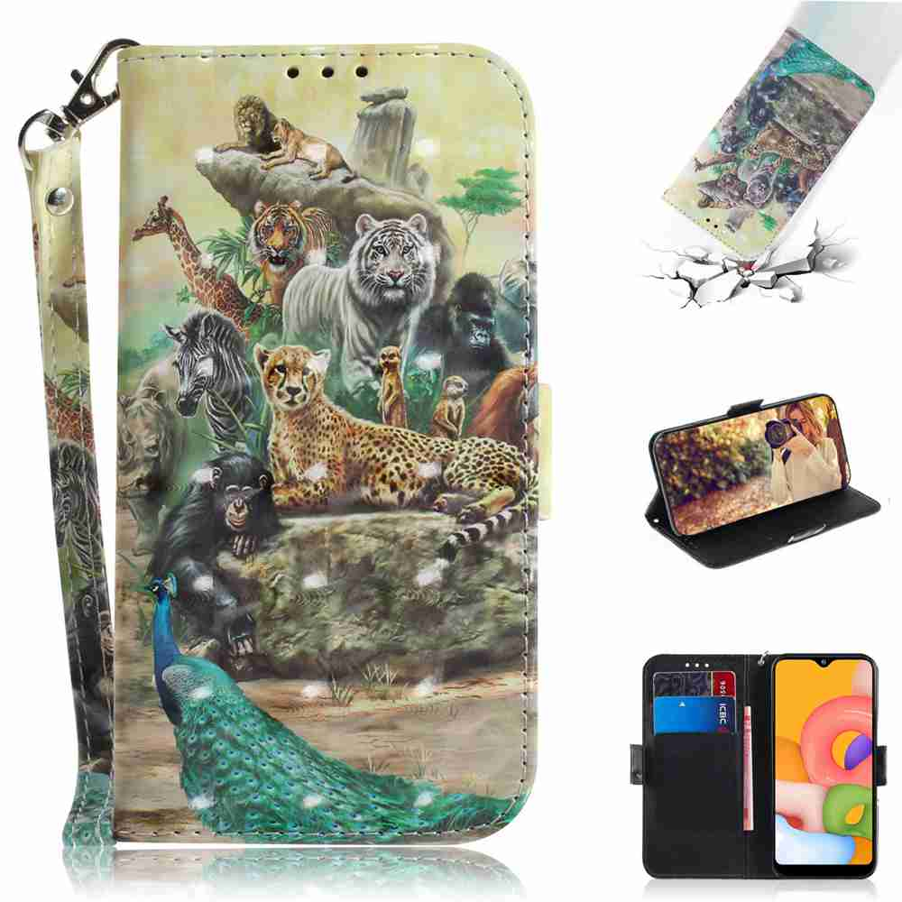Multi-Pattern 3D Painted Phone Case for Samsung Galaxy A01- Multi-E