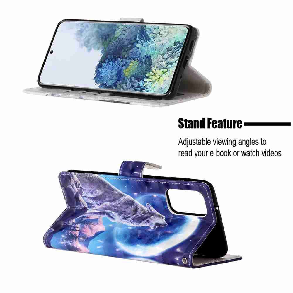 3D Painted PU Phone Case for Samsung Galaxy S20 Plus- Multi-G