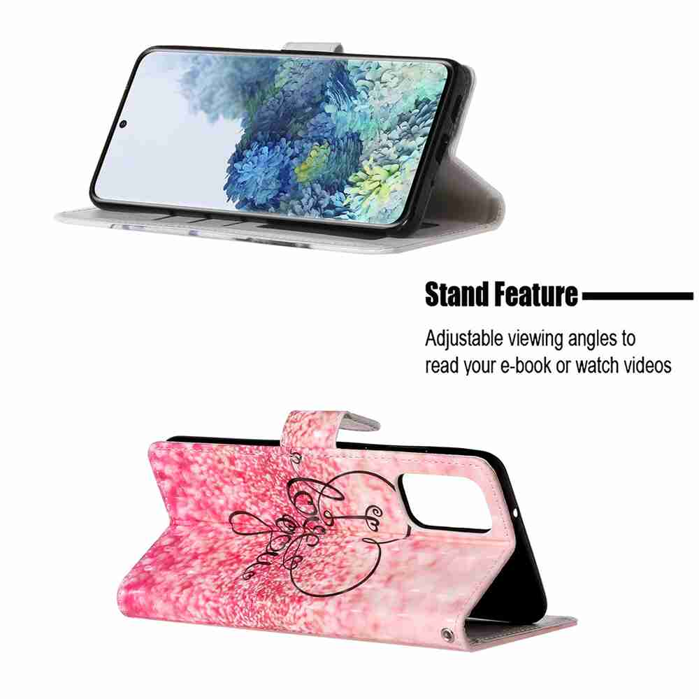 3D Painted PU Phone Case for Samsung Galaxy S20- Multi-F