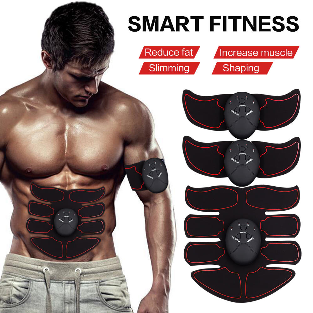 EMS Muscle Stimulator Trainer Smart Fitness Abdominal Training Electric Weight L