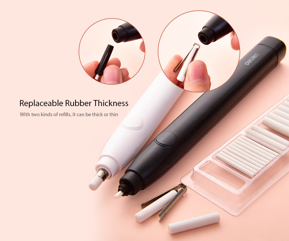 1pcs Pratical Battery Operated Electric Eraser with 10 Replacement Refills New