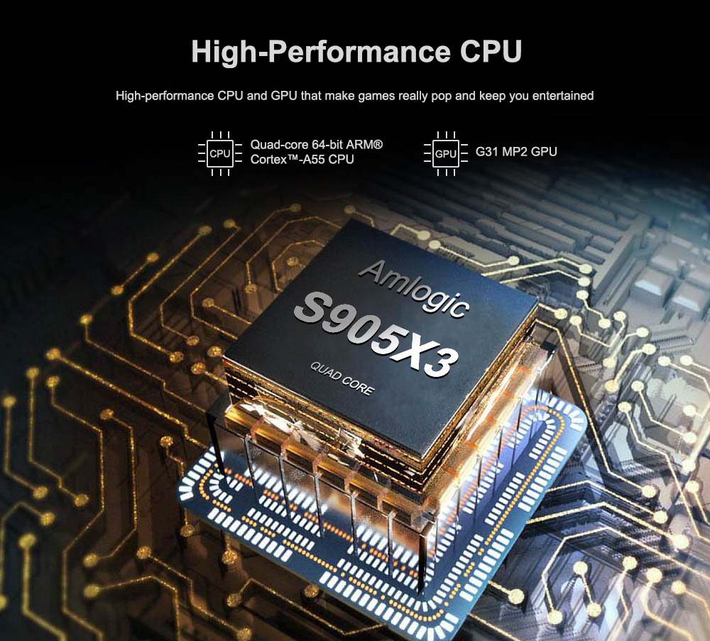 MECOOL KM1 DELUXE high performence Amlogic S905X3 cpu