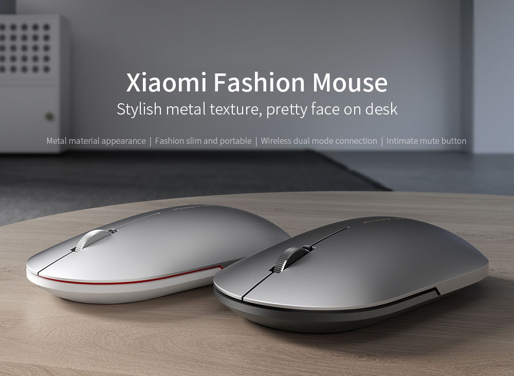 Xiaomi XMWS001TM Wireless Mouse Dual Mode Connection Mute Button - Black