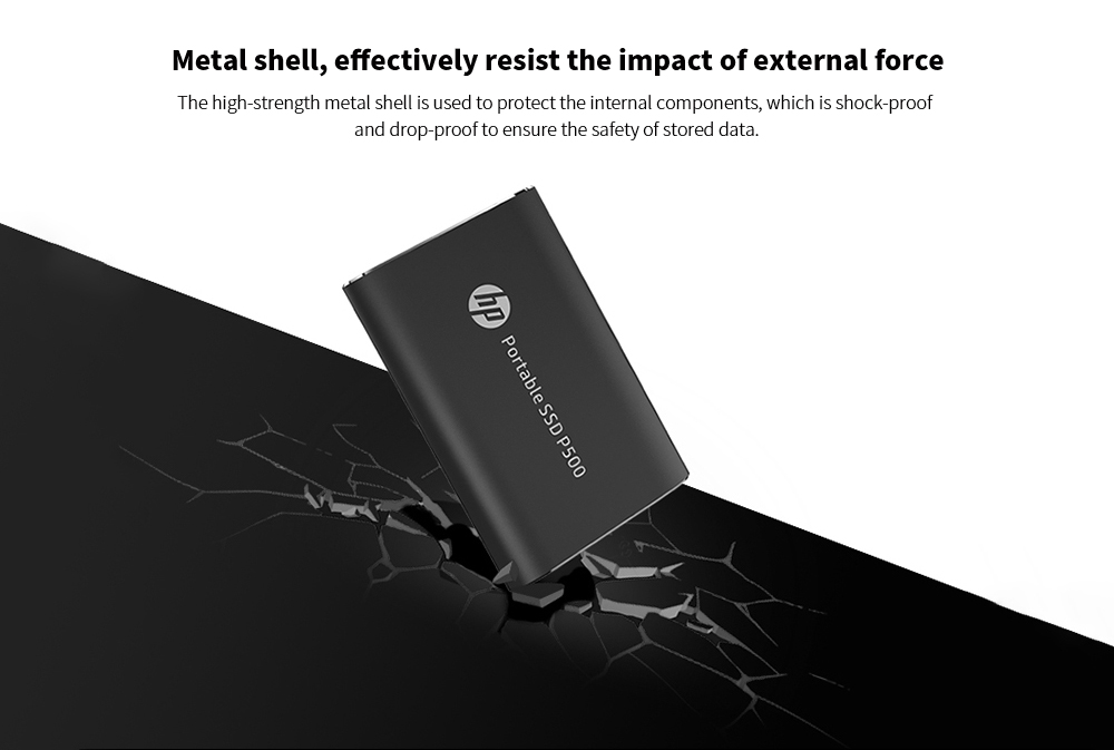 HP P500 Portable Mobile Hard Drive Disk Metal shell,effectively resist the impact of external force