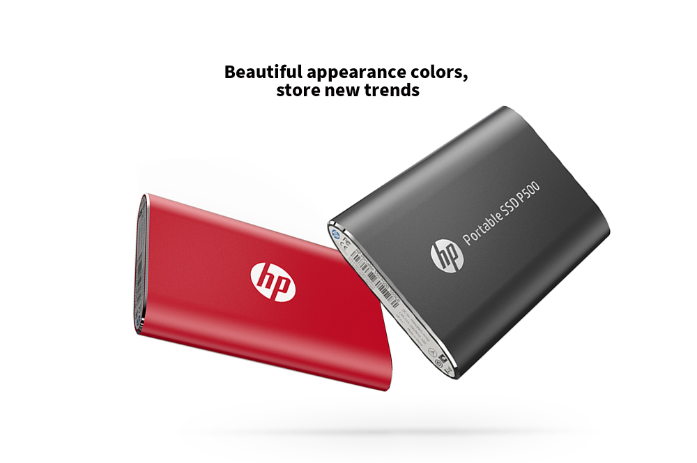 HP P500 Portable Mobile Hard Drive Disk Beautiful appearance colors