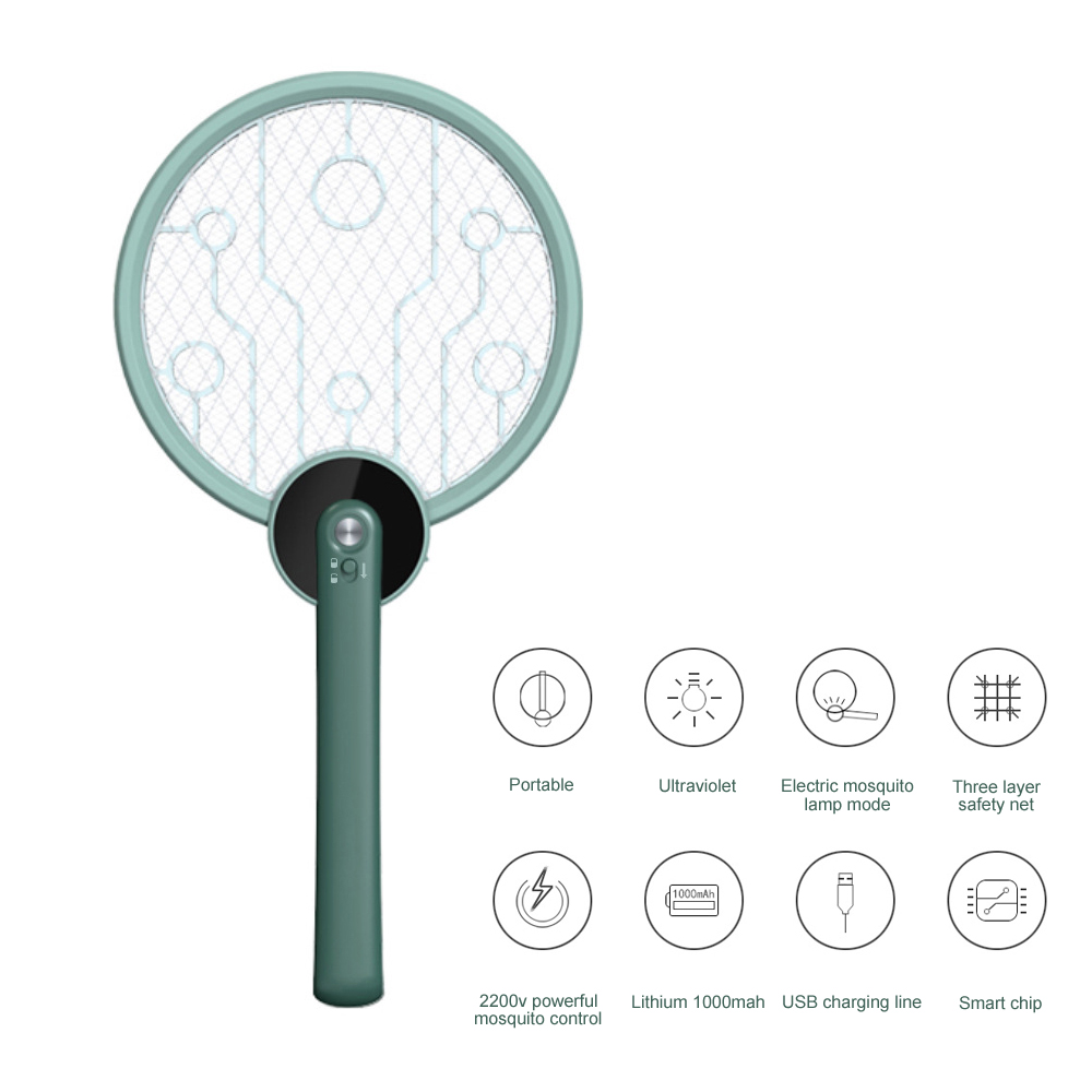 Portable Physical Electric Mosquito Swatter Foldable Mosquito Killing Lamp USB5V - Beige