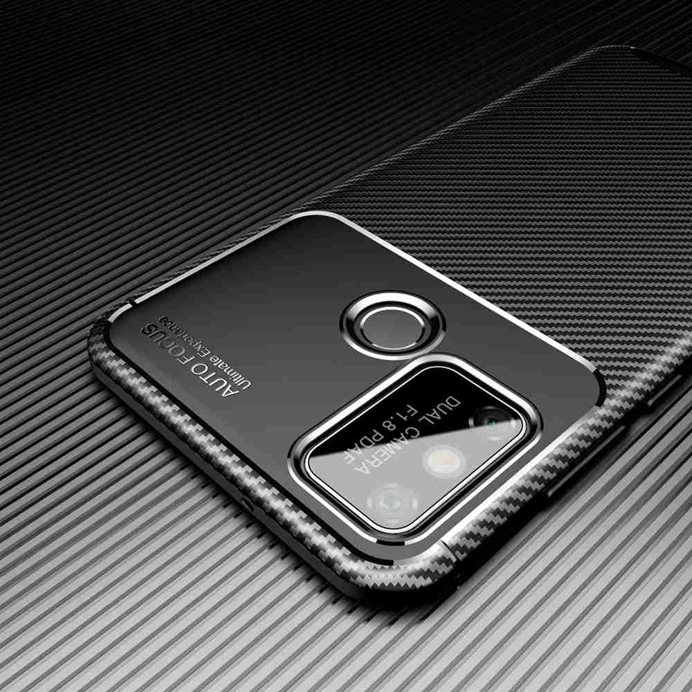 Beetle Carbon Fiber Phone Case for  Huawei Honor 9A - Brown