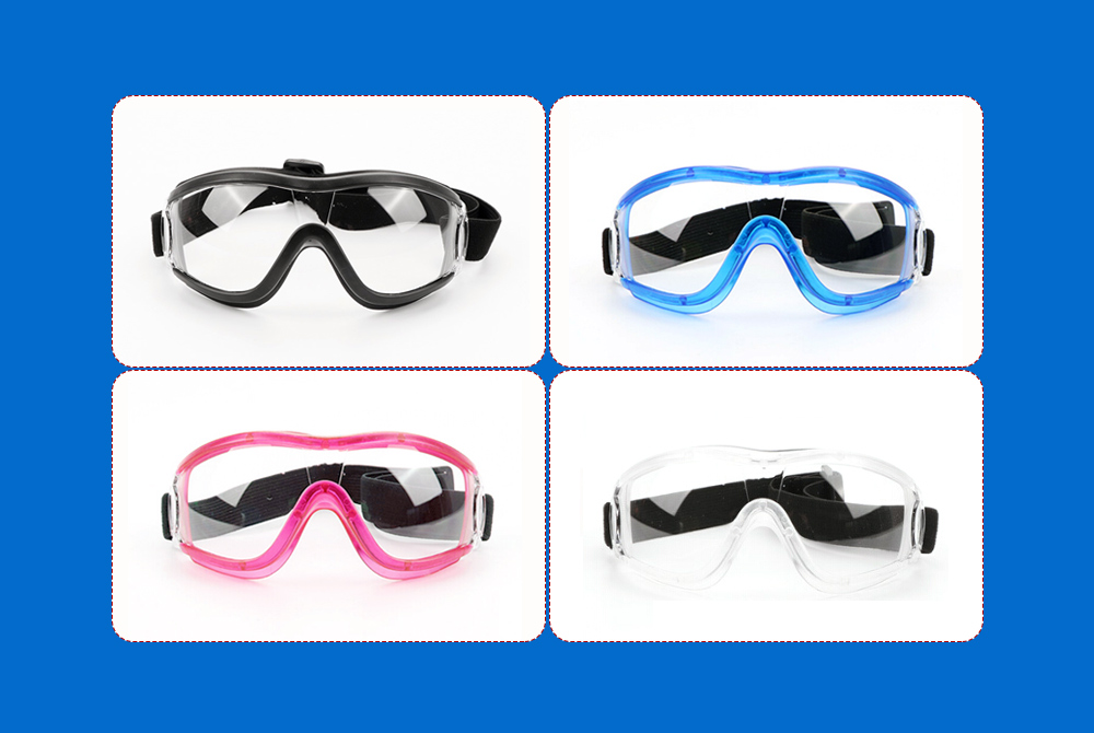 Windproof Sandproof Safety Goggles - Black