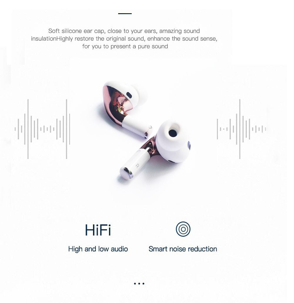 Air3 SE Bluetooth Earphone Wireless Earbud Noise Canceling Sports Headphone with Microphone - White