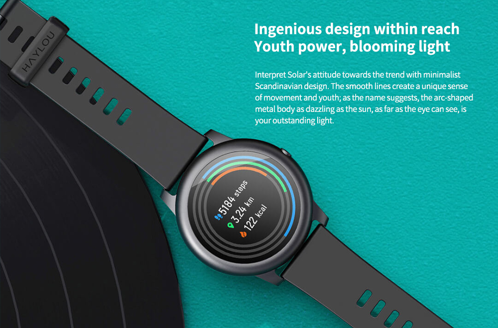 Haylou Solar Smart Watch Global Version Ingenious design within reach