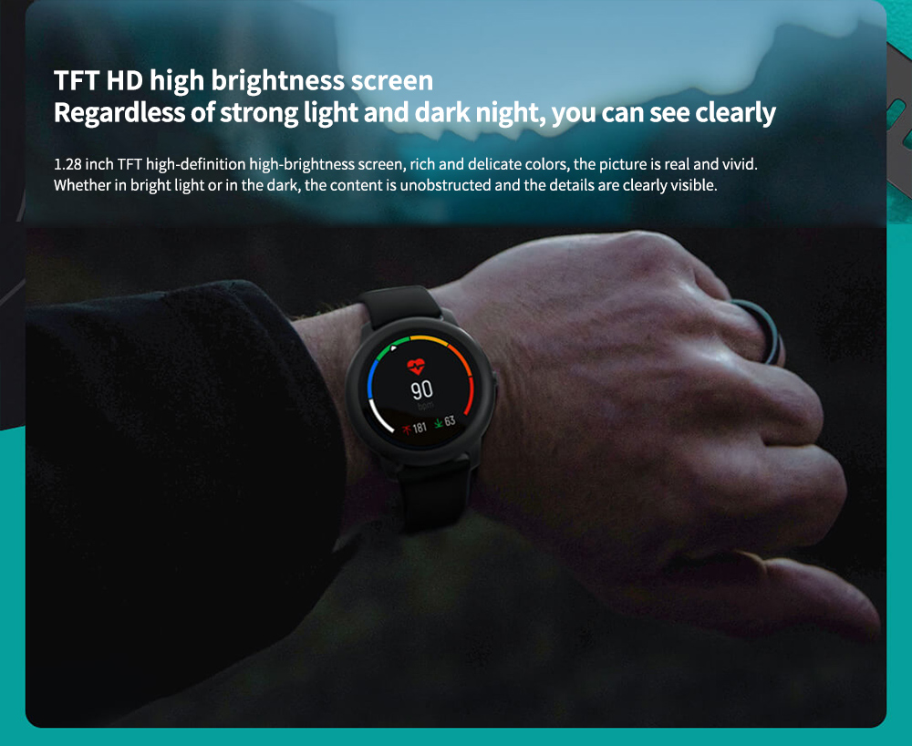 Haylou Solar Smart Watch Global Version TFT HD high brightness screen