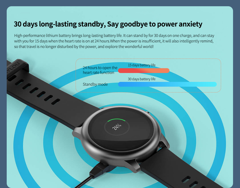 Haylou Solar Smart Watch Global Version 30 days long-lasting standby