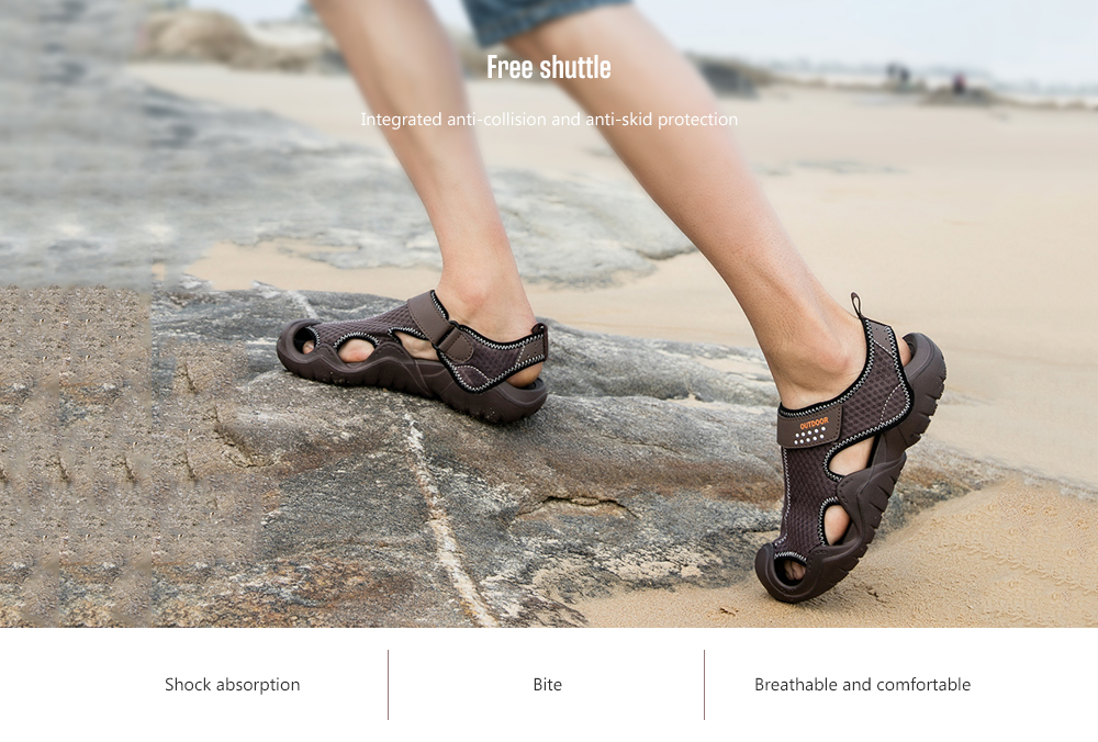 IZZUMI Men's Summer Sandals Integrated anti-collision and anti-skid protection