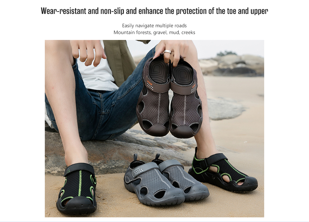 IZZUMI Men's Summer Sandals Wear-resistant and non-slip