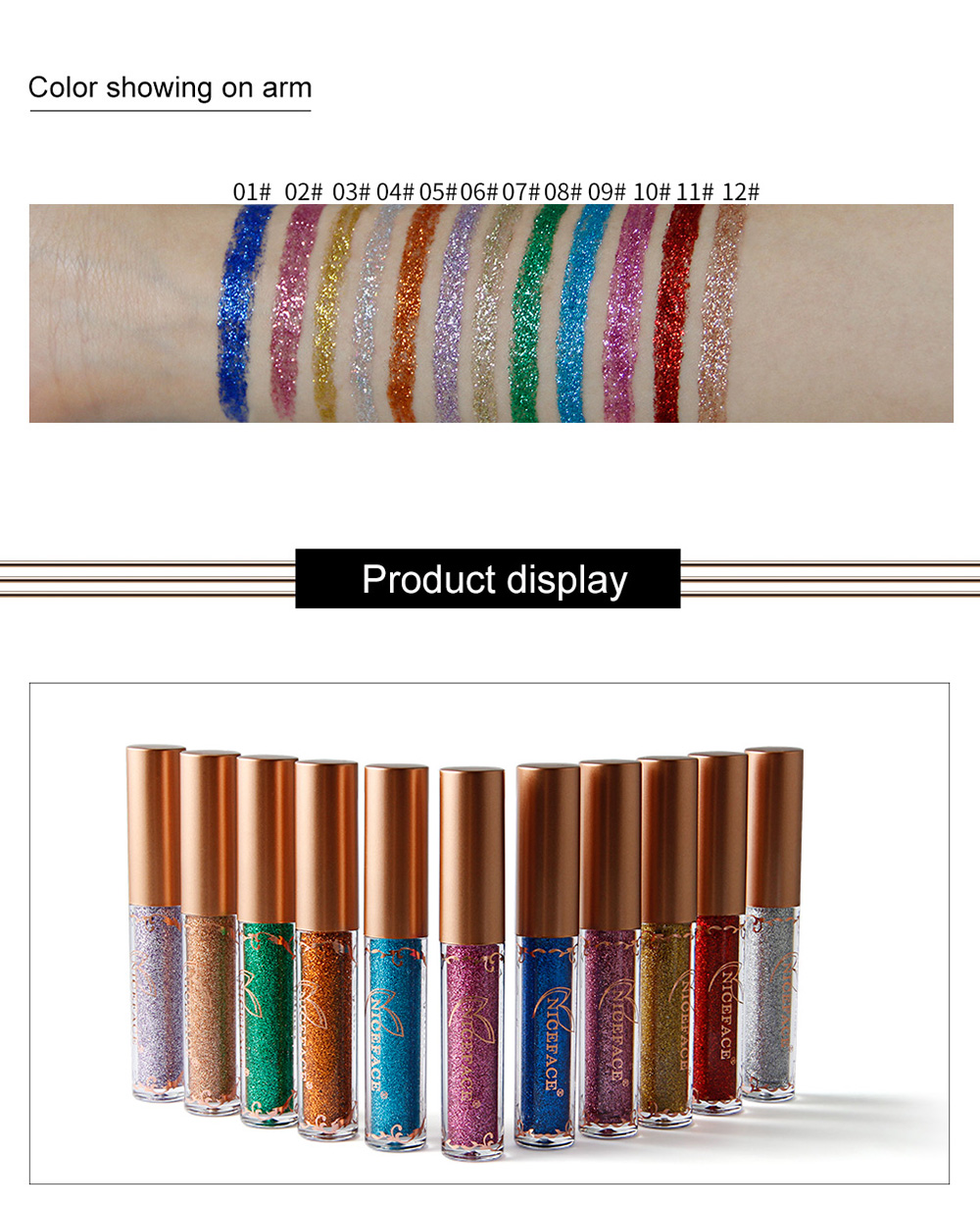 NICEFACE E17086 Metallic 12 Color Liquid Eyeliner Shining Diamond Pearl Eye Liner Glitter Long Lasting Pencil Makeup Cosmetics - #003