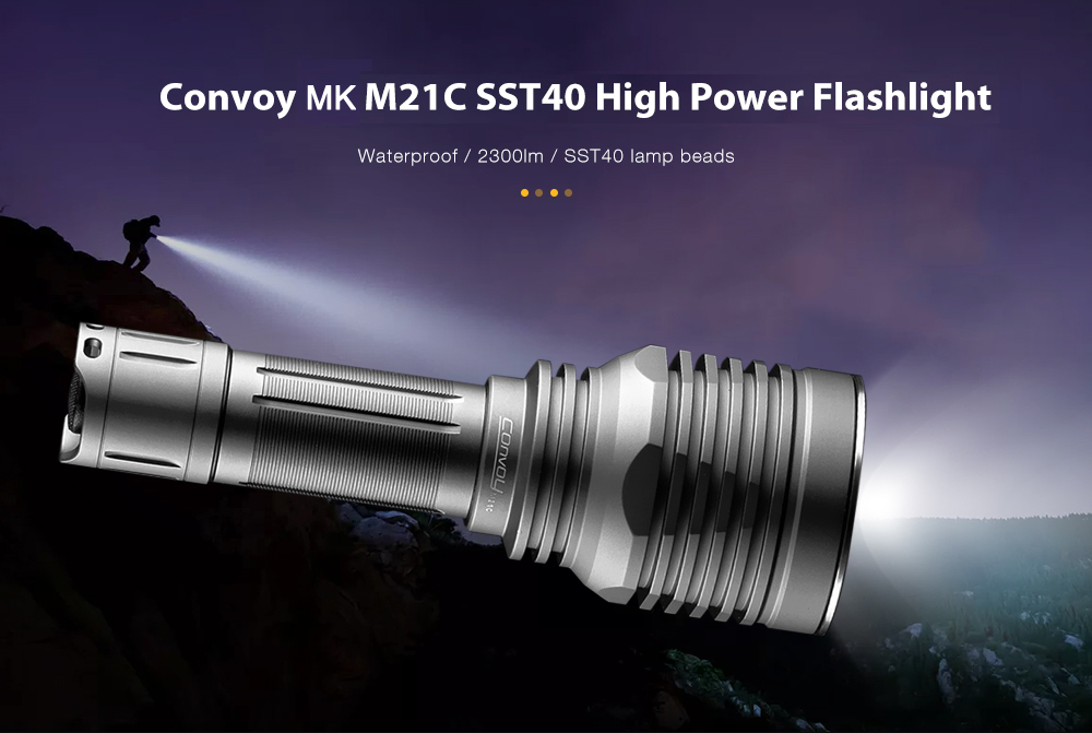 Convoy M21C High Brightness Flashlight - Gray 5000K