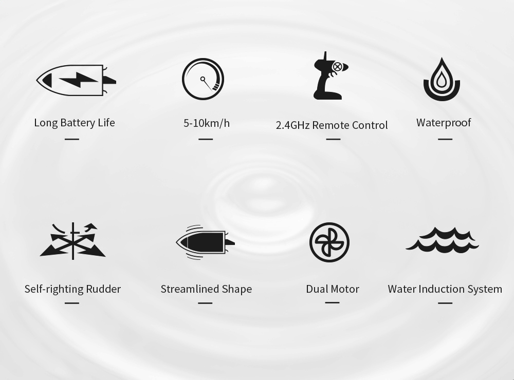 JJRC S6 2.4G Electric RC Boat Vehicle Model Main Features: