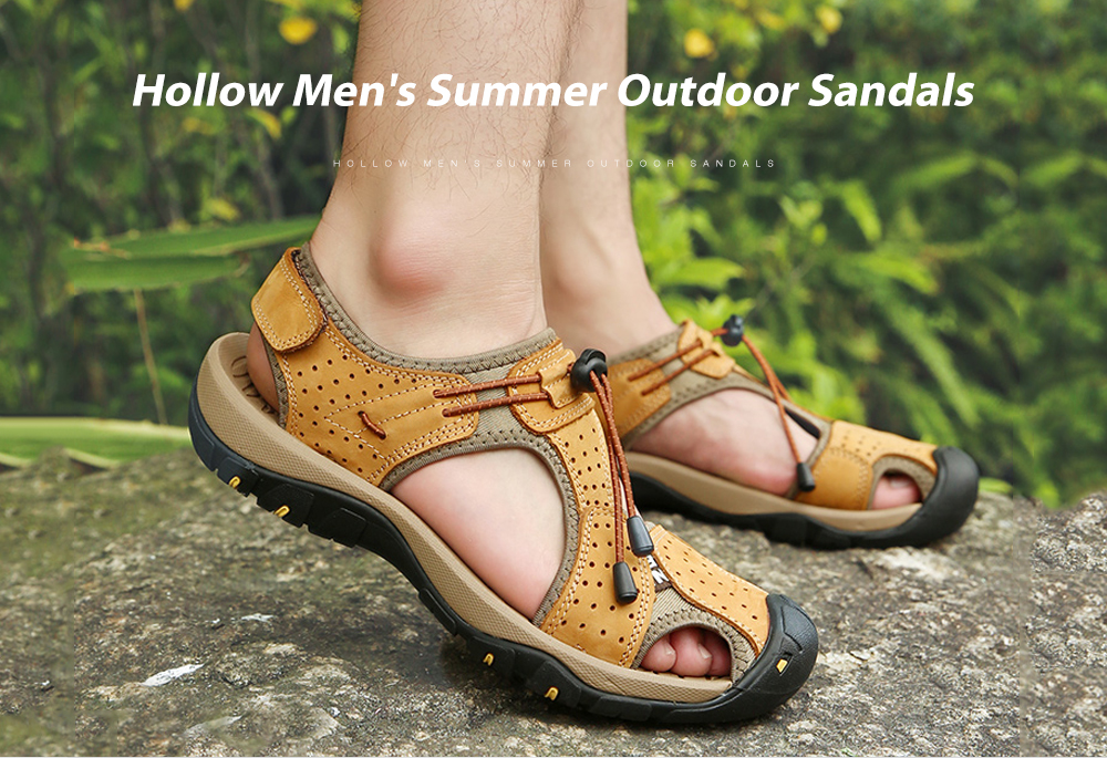 IZZUMI Hollow Men's Summer Outdoor Sandals