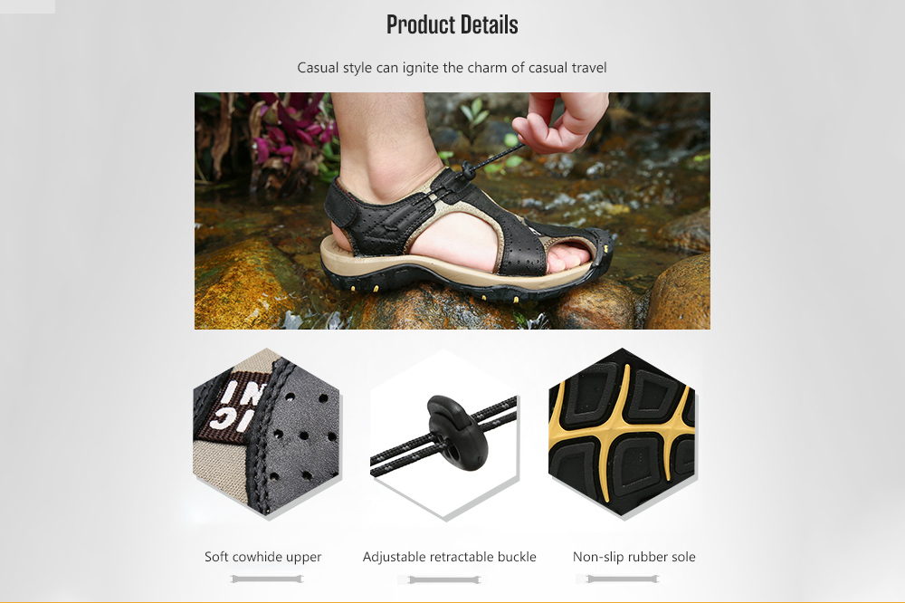 IZZUMI Hollow Men's Summer Outdoor Sandals details
