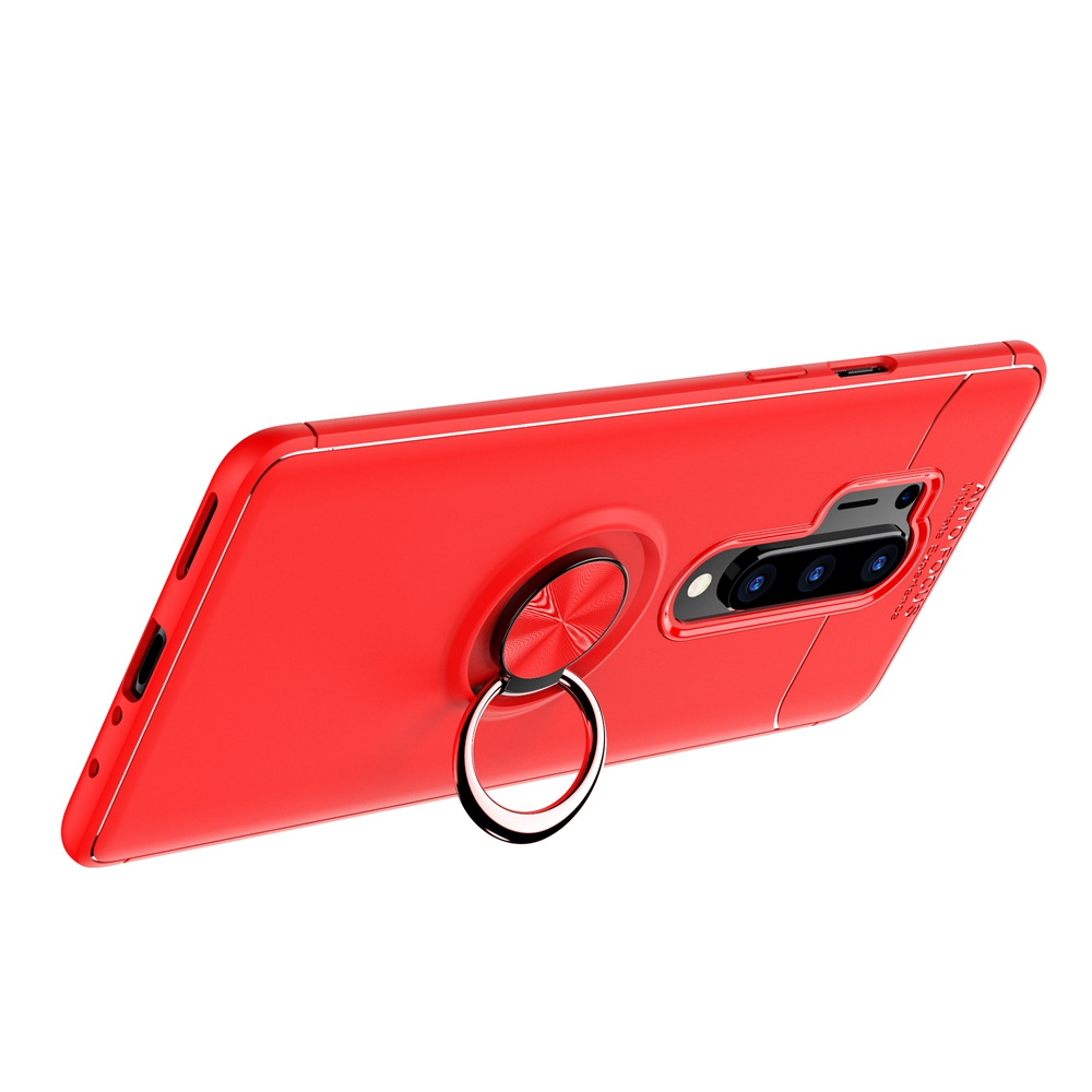 CHUMDIY TPU Shell Ring Holder Phone Case for Oneplus 8 Pro - Blue