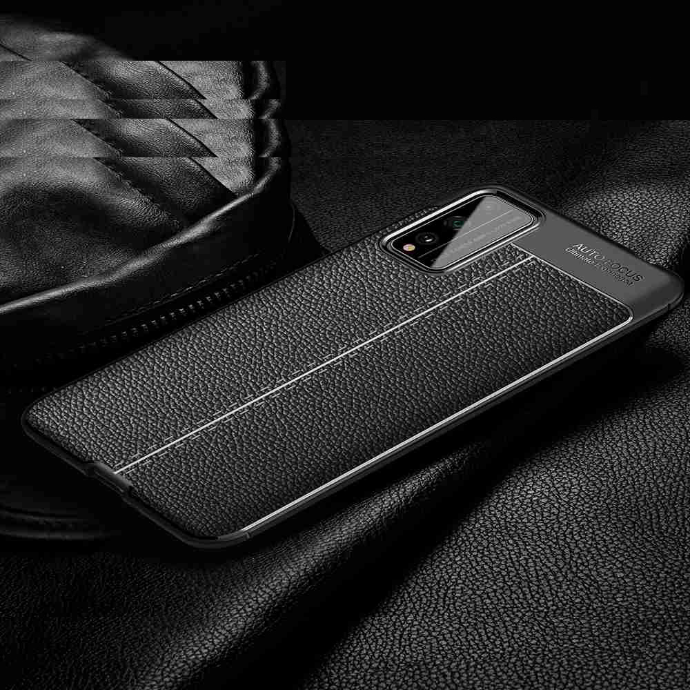 Leather Texture Carbon Fiber Phone Case for Huawei Honor Play 4T Pro - Rosso Red