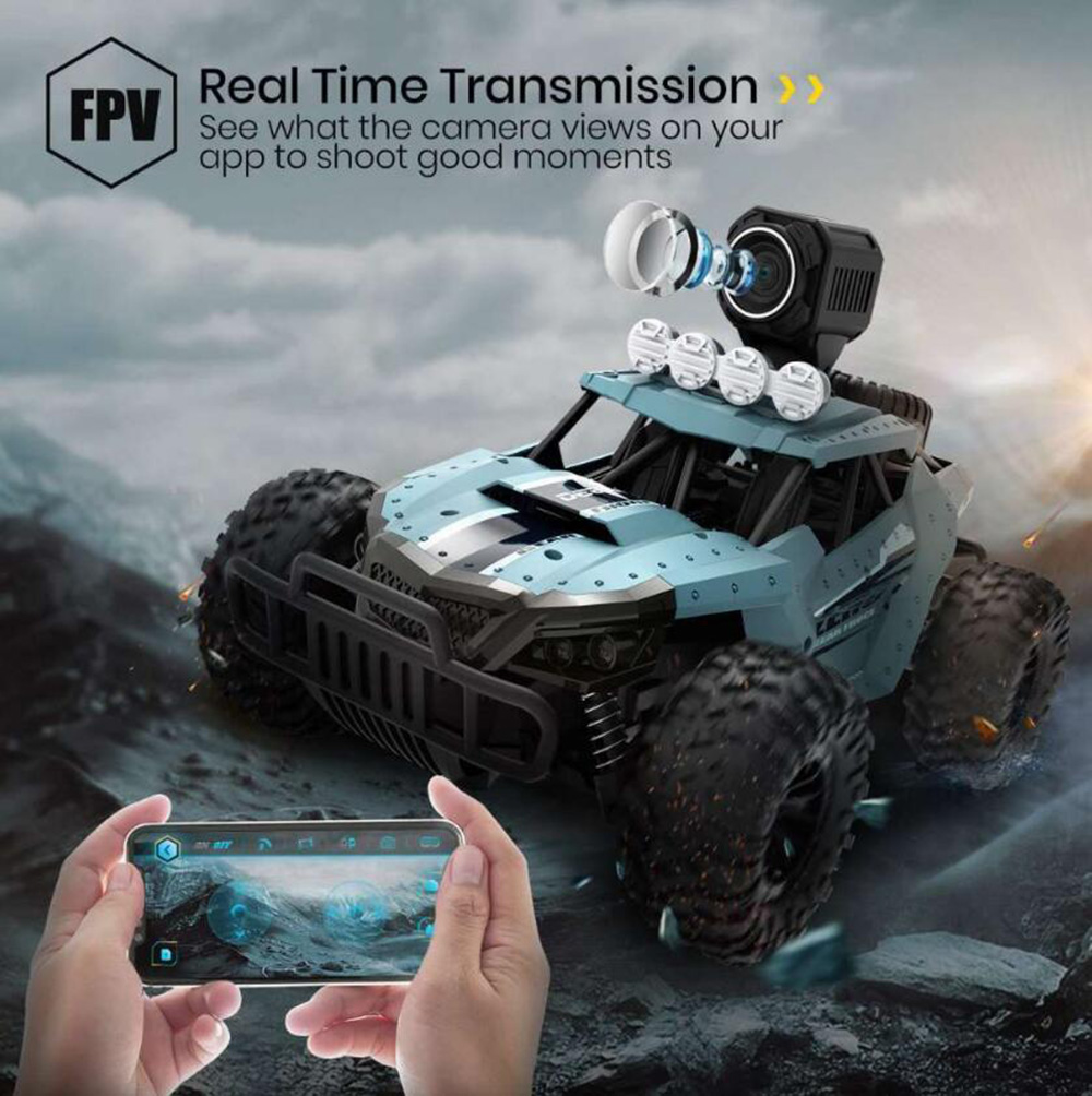 1:16 720P High-definition FPV Camera Real-time Picture Transmission Remote Control Car Toy - Blue Koi