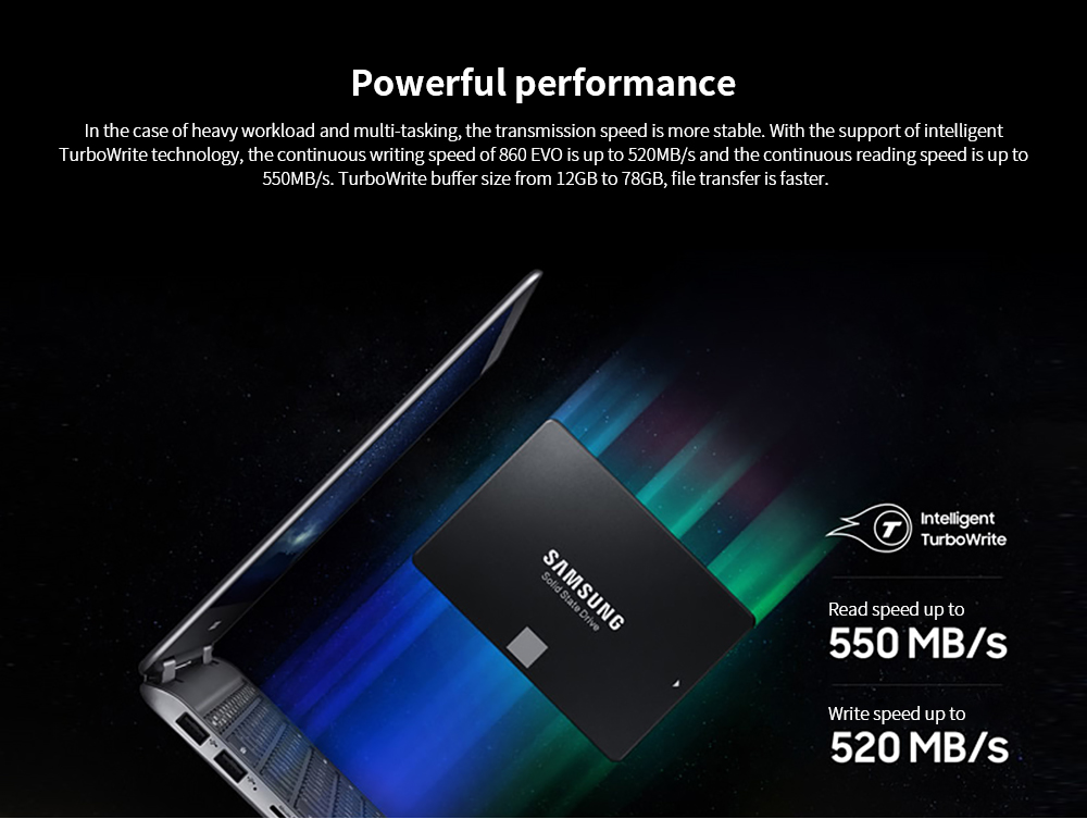 Samsung 2.5 inch SSD Solid State Drive Powerful performance