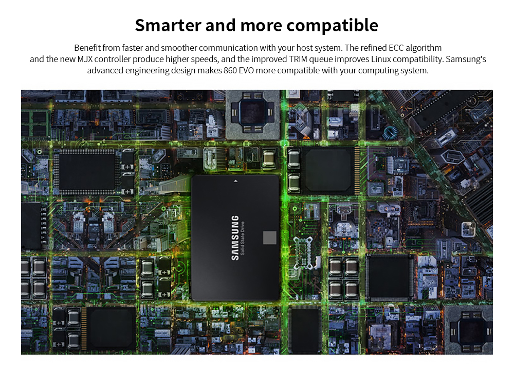 Samsung 2.5 inch SSD Solid State Drive Smarter and more compatible