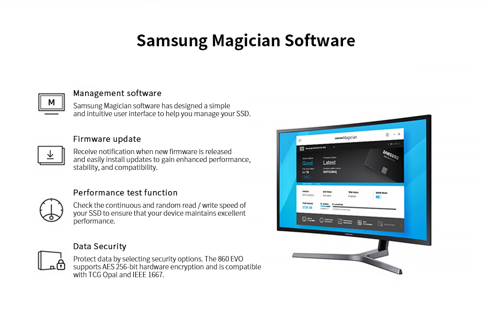 Samsung 2.5 inch SSD Solid State Drive Samsung Magician Software